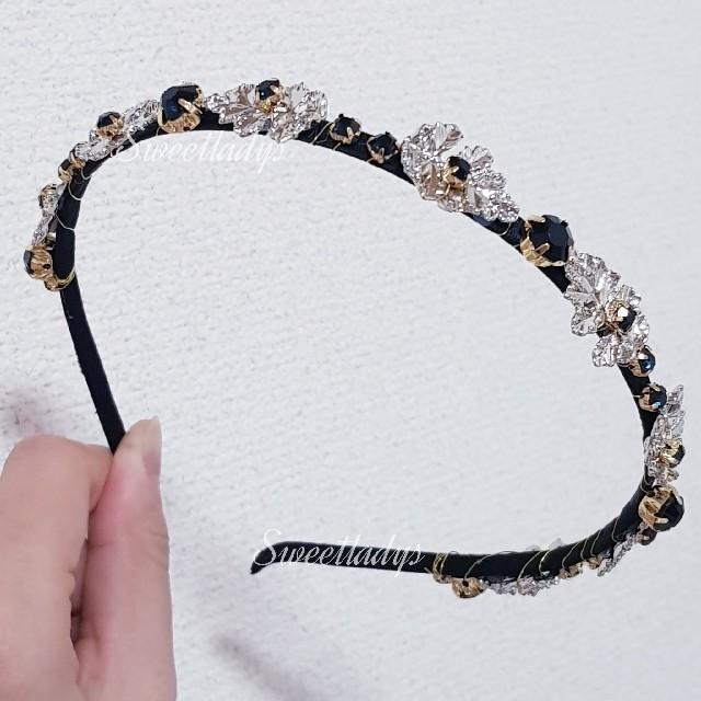 クラシック ビジュー カチューシャ IUちゃん着用 レディースのヘアアクセサリー(カチューシャ)の商品写真