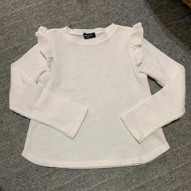 COMME CA ISM(コムサイズム)のコムサ イズム フリルトップス キッズ/ベビー/マタニティのキッズ服女の子用(90cm~)(Tシャツ/カットソー)の商品写真