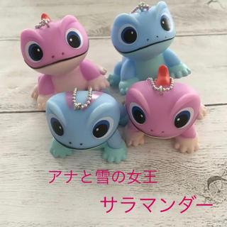セール!アナと雪の女王 サラマンダーソフビ人形 4個(キャラクターグッズ)