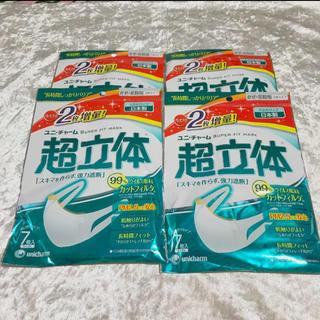 Unicharm - 【新品】 4袋セット ユニチャーム 超立体マスク 大きめ 大人用 28枚