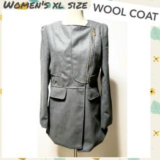 ♡wool coat♡変形ジップコート フォーマルジャケット XLサイズ(ピーコート)