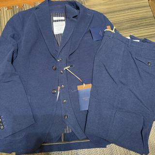 BEAMS - CIRCOLO ソリッドジャージー スーツ 3ピース ブルー size48