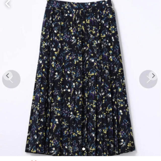 TOMORROWLAND(トゥモローランド)の週末セール★MACPHEE ポリエステルフラワープリーツスカート レディースのスカート(ひざ丈スカート)の商品写真