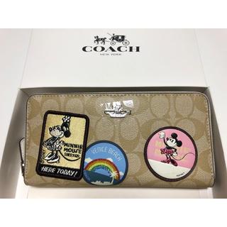 COACH - 新品未使用品★コーチ ミニーマウス パッチワーク レザー長財布 29380