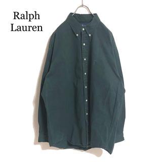 ラルフローレン(Ralph Lauren)のラルフローレン BDシャツ 深緑 厚手 チノシャツ 紫ポニー オーバーサイズ(シャツ)