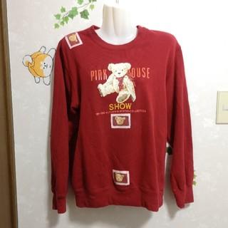 ピンクハウス(PINK HOUSE)のピンクハウス クマ くま トレーナー ワッペン(トレーナー/スウェット)