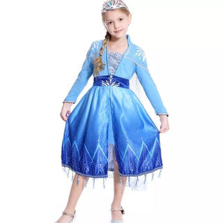 アナトユキノジョオウ(アナと雪の女王)のエルサ ドレス アナと雪の女王2❤️サイズ110(ドレス/フォーマル)