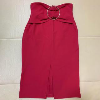 ザラ(ZARA)のZARA☆ピンクタイトスカート(ひざ丈スカート)