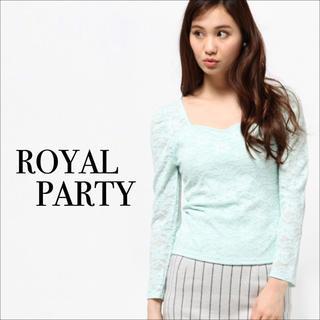 ロイヤルパーティー(ROYAL PARTY)のROYAL PARTY ハートネック レース トップス♡デュラス rienda(カットソー(長袖/七分))
