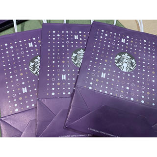 Starbucks Coffee - スタバBTSコラボショッパー紙袋3枚セット