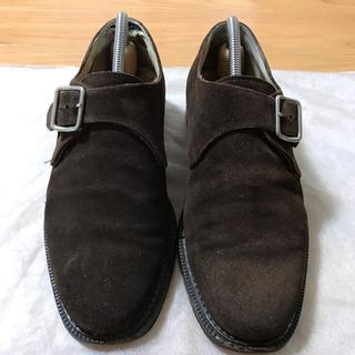 バーニーズニューヨーク(BARNEYS NEW YORK)のバーニーズニューヨーク スウェード 革靴 シューズ ブラウン モンク 25.5(ドレス/ビジネス)