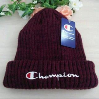 Champion - 新品♥チャンピオン ニット帽 エンジ
