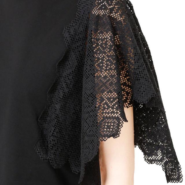 LE CIEL BLEU(ルシェルブルー)のルシェルブルー#新品#Lace Panel Sleeve Tops レディースのトップス(カットソー(半袖/袖なし))の商品写真