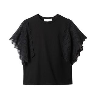 ルシェルブルー(LE CIEL BLEU)のルシェルブルー#新品#Lace Panel Sleeve Tops(カットソー(半袖/袖なし))