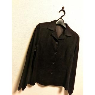 アナイ(ANAYI)の長袖 茶色 上着 ジャケット ブラウス シャツ 秋冬 黒 茶 11号 9号 m(テーラードジャケット)
