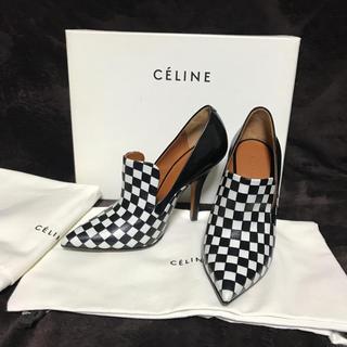 celine - セリーヌ  ブロック柄パンプス