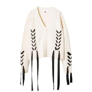 LE CIEL BLEU - LE CIEL BLEU Cable Knit Cardigan