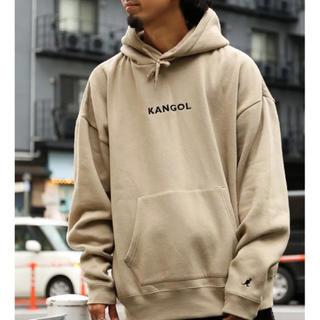 KANGOL - FREAK'S STORE × KANGOL プルオーバーパーカー ベージュ L