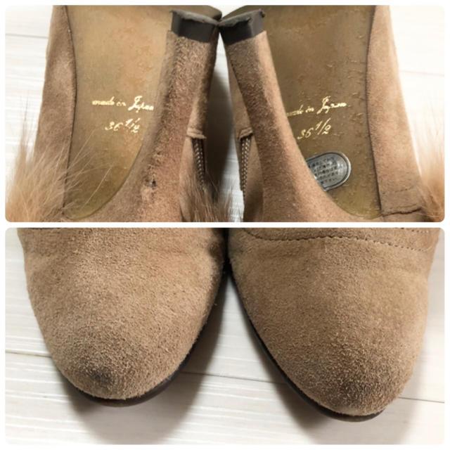 VII XII XXX(セヴントゥエルヴサーティ)のセブントゥエルブサーティー スエードレザーラビットファーブーツ36.5 23.5 レディースの靴/シューズ(ブーティ)の商品写真