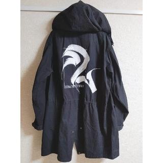 ジーユー(GU)の【GU】 ビッグモッズコート コラボ商品 コート ブラック  (モッズコート)