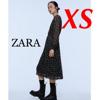 ZARA - 新品 完売品 ZARA XS フラワー柄 刺繍ワンピース