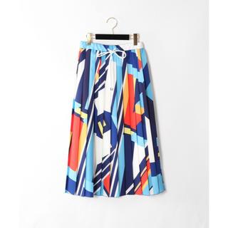 GRACE CONTINENTAL - 新品 GRACE CONTINENTAL カラーブロックプリーツスカート 36