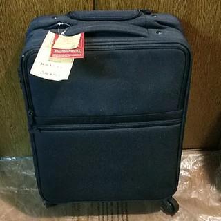 ムジルシリョウヒン(MUJI (無印良品))の【未使用品】無印良品MUJI半分の厚みで収納できるキャリーケースSネイビー(スーツケース/キャリーバッグ)