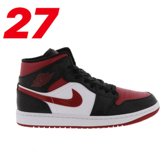ナイキ(NIKE)の27【最安値】NIKE AIR JORDAN 1 MID NOBLE RED(スニーカー)
