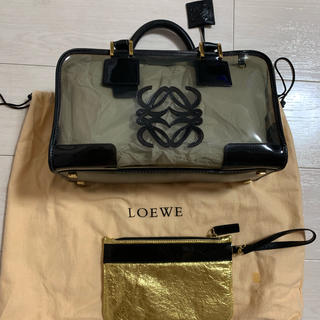 LOEWE - ロエベ アマソナ サイズ28 スケルトン ブラック バッグ