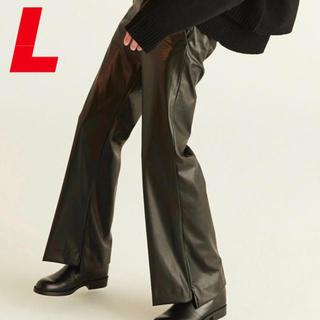 RYO TAKASHIMA FAKE LEATHER FLARE PANTS