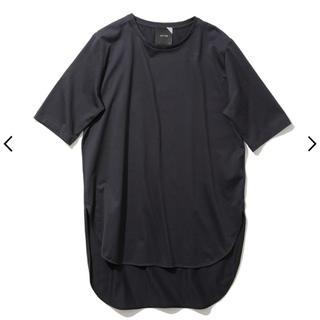 ATON SUVIN60 ラウンドヘムTシャツ ブラック