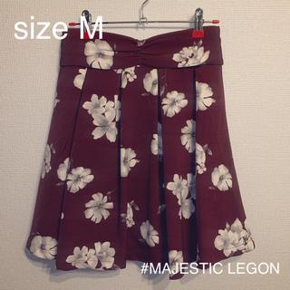 MAJESTIC LEGON - 【MAJESTIC LEGON】新品: 花柄スカート(裏地キュロット)