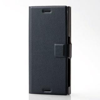 エレコム(ELECOM)のXperia XZs / Xperia XZ用薄型ソフトレザーカバー ブラック(Androidケース)