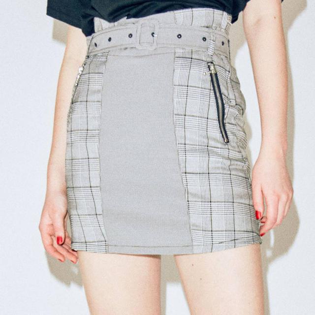 jouetie(ジュエティ)のjouetie ブロッキングスカパン レディースのスカート(ミニスカート)の商品写真