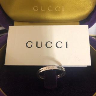 グッチ(Gucci)のGUCCIインフィニティホワイトゴールドリング限定(リング(指輪))