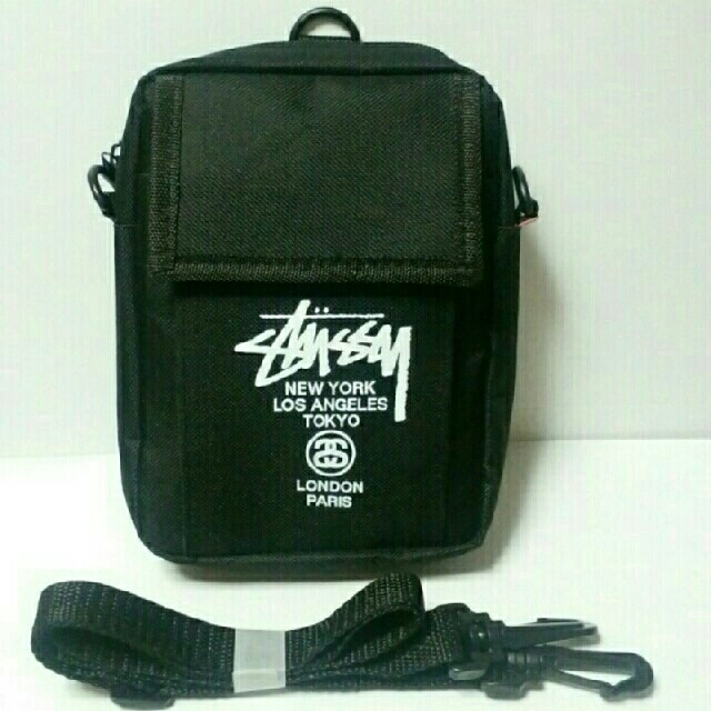STUSSY(ステューシー)の未使用新品 ステューシー ミニショルダーバッグ ブラック smart 付録 メンズのバッグ(ショルダーバッグ)の商品写真