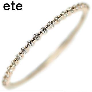ete - エテ K10YG ダイヤモンド ハーフエタニティ リング