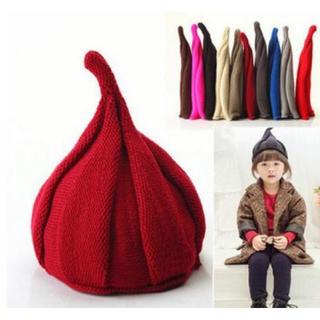【追加入荷】全7色 とんがり トンガリ どんぐり帽子 ニット帽子 キッズ ベビー