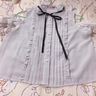 マーズ(MA*RS)のMARS オフショル トップス リボン(カットソー(半袖/袖なし))