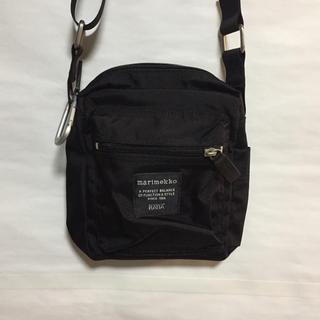 marimekko - 美品 マリメッコショルダーバッグ黒