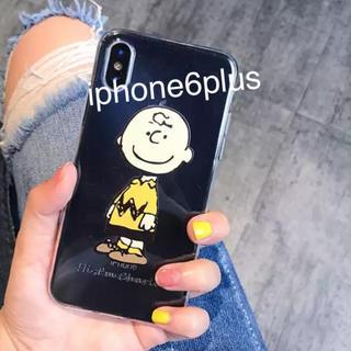 SNOOPY - iphone6plusケース★チャーリーブラウン クリアケース スヌーピー