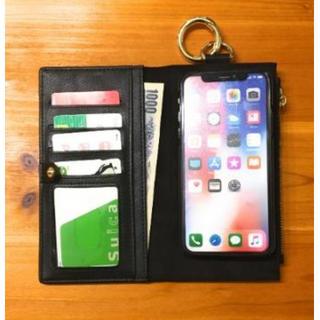 手帳型iPhoneケースX/XS 財布 カラナビ スタンド機能付き 分離タイプ