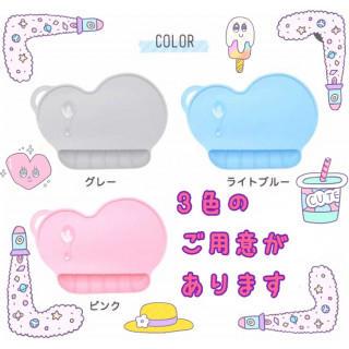 食べこぼしポケット付き☆雲形お食事シリコンマット グレー