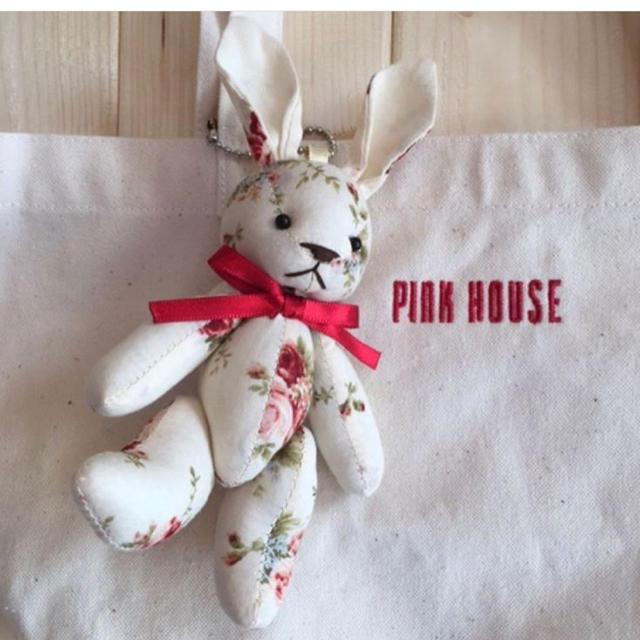 PINK HOUSE(ピンクハウス)のうさぎキーホルダー付き🐰ミニトートバック☆ピンクハウス レディースのバッグ(トートバッグ)の商品写真