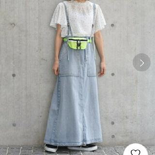 ダブルクローゼット(w closet)のデニム トラペットスカート アンティカ好きにも(ロングスカート)