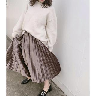dholic - ウエストゴムベロアプリーツスカート