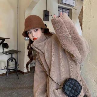 ボアジャケット 韓国ファッション レディース かわいい オルチャン もふもふ(毛皮/ファーコート)