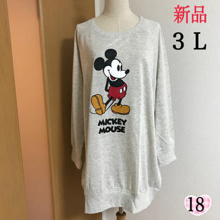 Disney - 新品‼️ ミッキー  チュニック ワンピース(3L)