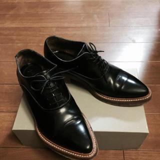 アクネ(ACNE)のACNE studios レースアップウイングチップシューズ(ローファー/革靴)