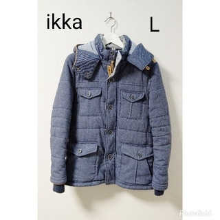 イッカ(ikka)のikka  青  ダウンジャケット  コート(ダウンジャケット)
